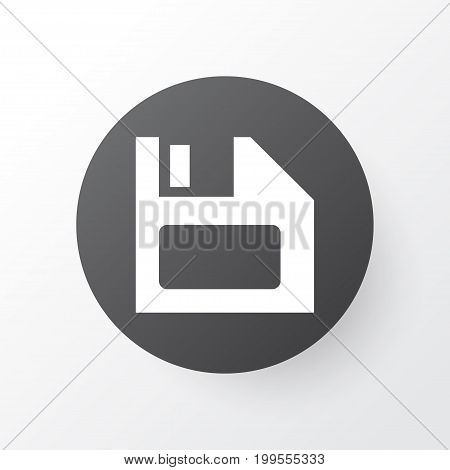 Premium Quality Isolated Diskette Element In Trendy Style.  Floppy Disk Icon Symbol.