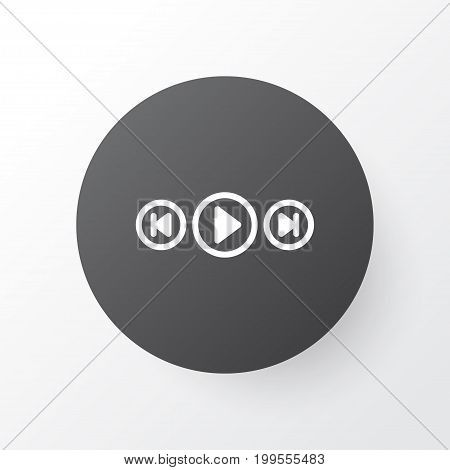 Premium Quality Isolated Audio Buttons Element In Trendy Style.  Media Player Icon Symbol.