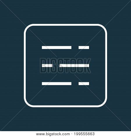 Premium Quality Isolated Dashboard Element In Trendy Style.  Statistic Outline Symbol.