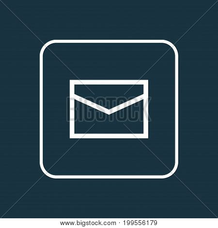 Premium Quality Isolated Mail Element In Trendy Style.  Envelope Outline Symbol.