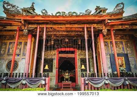 Kuan Yin Shrine Or Kong Wu Shrine Is A Old Small Chinese Temple On The Western Bank Of Chao Phraya R