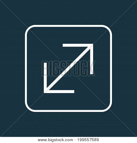 Premium Quality Isolated Resize Element In Trendy Style.  Enlarge Outline Symbol.