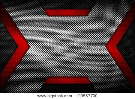 abstract x metal with mesh design background