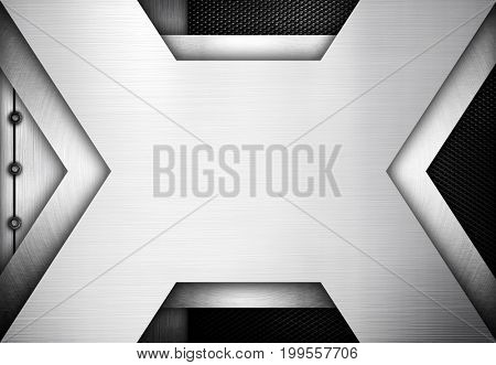 x metal template design background