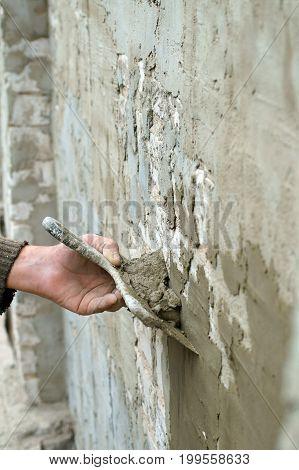 Plasterer plaster wall plaster , professional, industry work