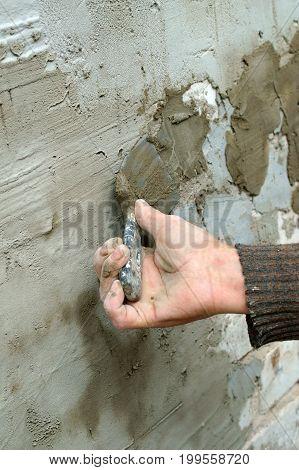 Plasterer plaster wall plaster work cement professional