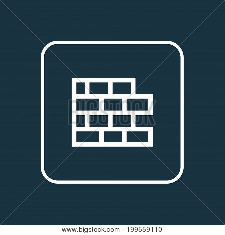 Premium Quality Isolated Brickwork Element In Trendy Style.  Wall Outline Symbol.