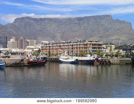 FROM CAPE TOWN, SOUTH AFRICA, VICTORIA AND ALFRED WATERFRONT ON A CLOUDY DAY