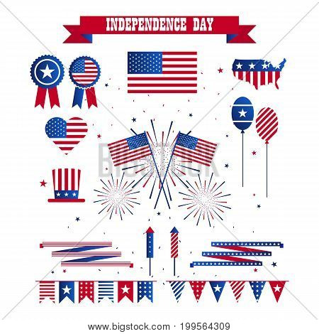 A set of design elements for Independence Day