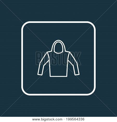 Premium Quality Isolated Sweatshirt Element In Trendy Style.  Hoodie Outline Symbol.