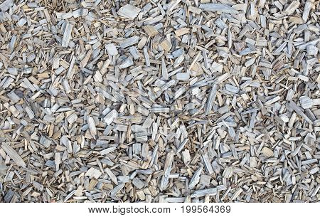 Wooden chips or bark mulch, background, detail