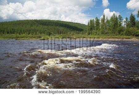 Roll on the Chulmakan River in South Yakutia Russia