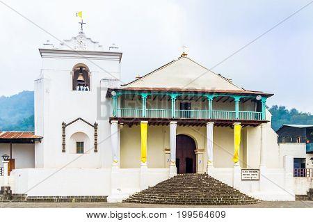 View on Saint James the Apostle Church in Santiago Atitlan - Guatemala