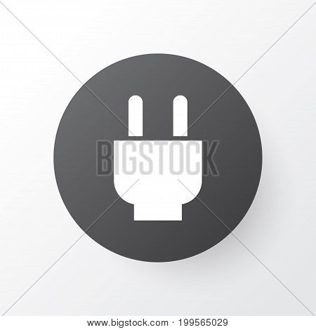 Premium Quality Isolated Socket Element In Trendy Style.  Plug Icon Symbol.