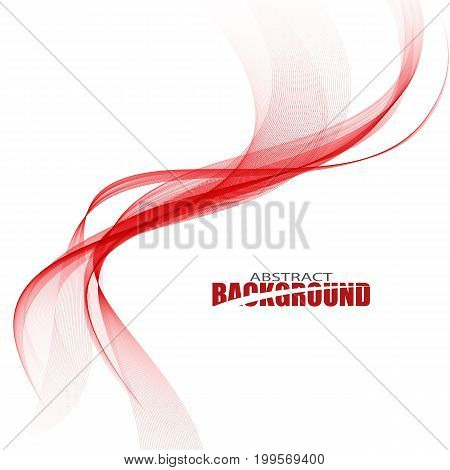 Abstract red wave. Smooth, dynamic red waves.Abstract waves background