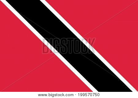 Flag Trinidad flat icon. State insignia of the nation in flat style on the entire page. National symbol in the form of a vector illustration