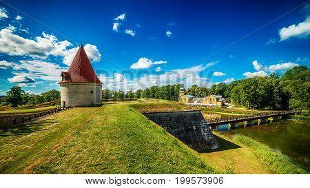 Saarema Island, Estonia: Kuressaare Episcopal Castle in the summer
