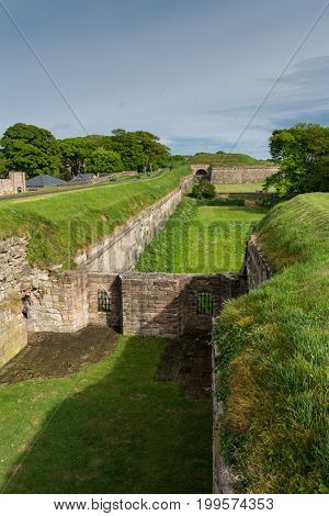 The Town of Berwick on the border between England and Scotland changed hands several times and as a result was heavily fortified. These defences were built in Tudor times