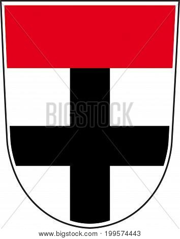 Coat of arms of Konstanz is a city in south of Baden-Wurttemberg of German. Vector illustration from the
