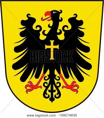 Coat of arms of Rottweil is a town in Baden-Wurttemberg Germany. Vector illustration from the