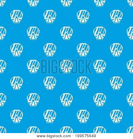 Paintball mask pattern repeat seamless in blue color for any design. Vector geometric illustration