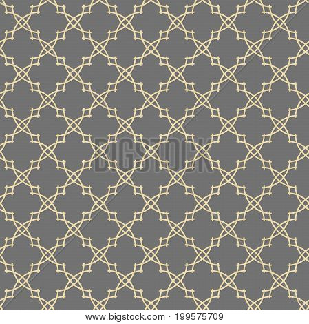 Seamless vector golden ornament in arabian style. Geometric abstract background. Pattern for wallpapers and backgrounds