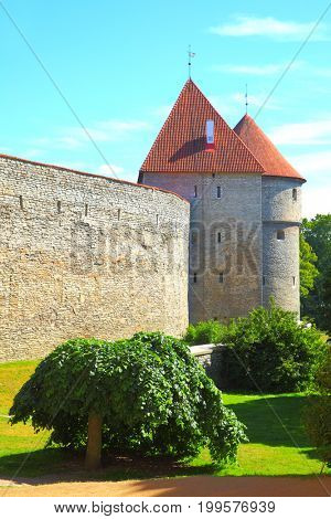Old city walls of Tallin, Estonia
