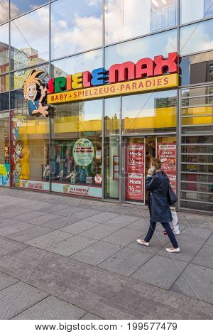 DRESDEN GERMANY - SEPTEMBER 09 2015: Chain of toy stores
