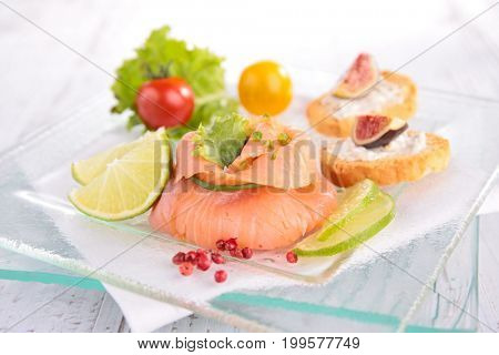 salmon filling with cream, festive entree
