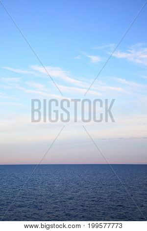 Seascape with sea horizon. Copyspace composition, may be used as background