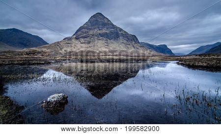 Buachaille Etive Beag from Lochan na Fola,  Glencoe Highland