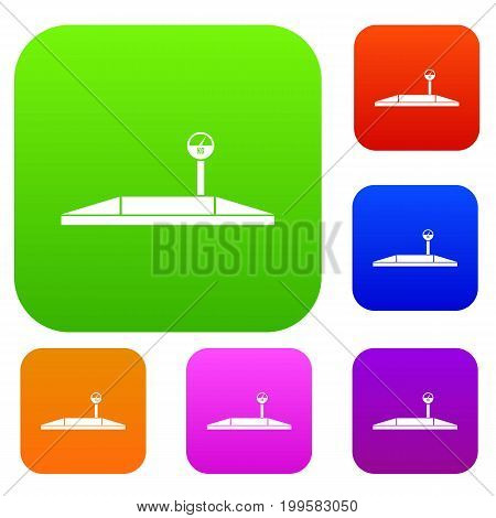 Parking scales set icon in different colors isolated vector illustration. Premium collection