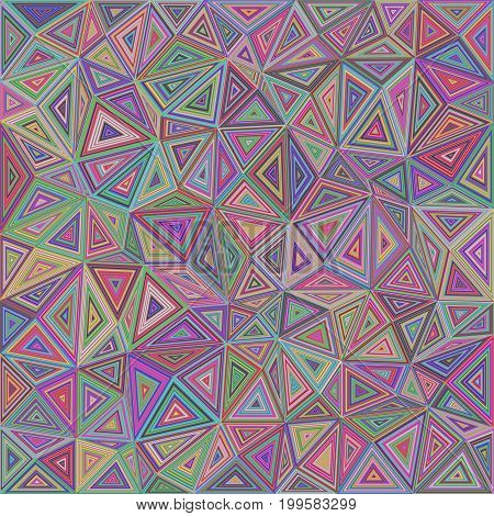 Multicolored chaotic triangle mosaic tile background design