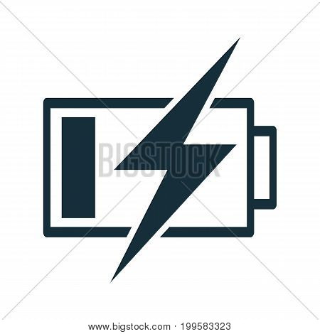 Battery Charging Icon Thin