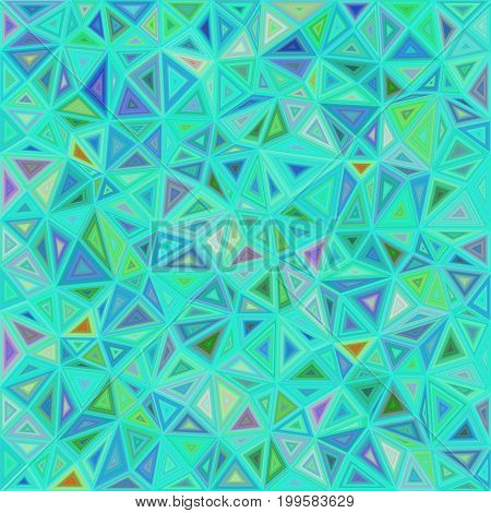 Cyan vector triangle mosaic tile background design