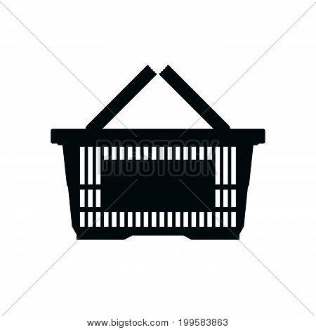 Shopping basket icon set. Flat icon. Vector illustration.