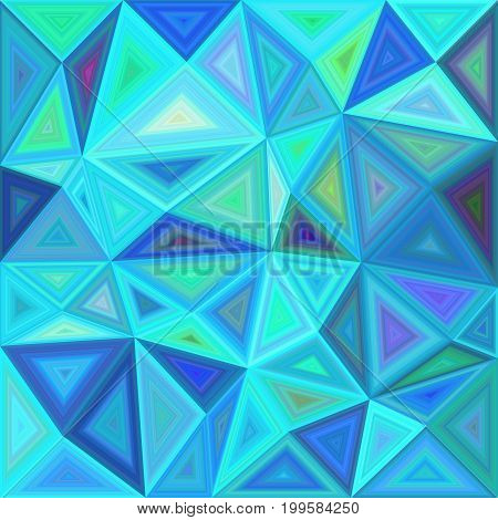 Blue chaotic vector triangle mosaic tile background design