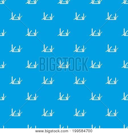 Pocket flashlight pattern repeat seamless in blue color for any design. Vector geometric illustration