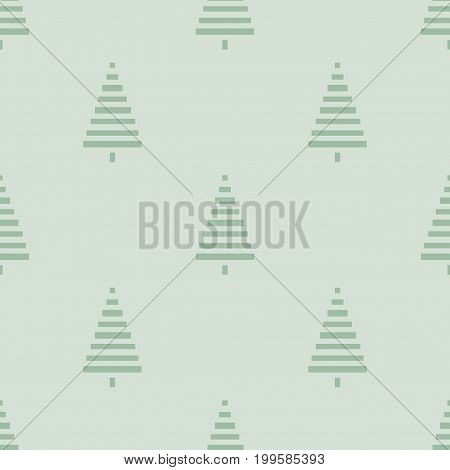 Christmas pattern with trees. Simple, winter background graphic to print on fabric, paper, gift wrapping, packaging, scrap-booking, covers, backdrops, Wallpapers, web. Seamless vector illustration