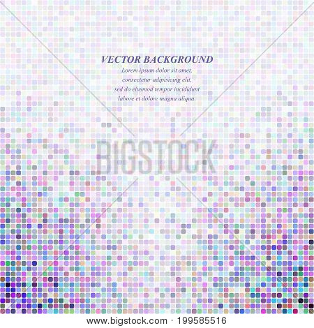 Abstract tiled square mosaic pattern background - vector illustration