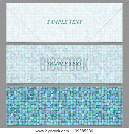 Abstract square mosaic pattern banner background set