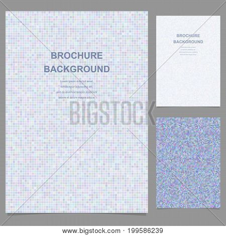 Abstract vector brochure template design with pixel squares