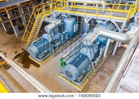Industrial engines Chemical production Voronezh Sibur factory