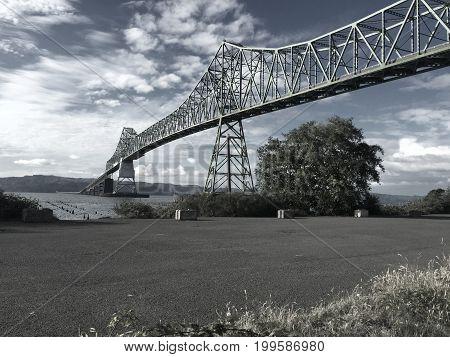 Astoria Bridge in Oregon, From Oregon to Washington