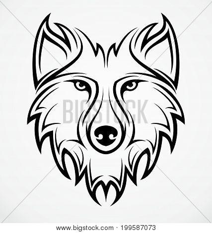 Wolf Head Tattoo Vector Photo Free Trial Bigstock