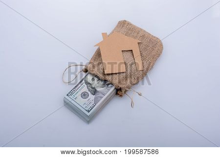 Paper House Beside Us Dollar Banknote