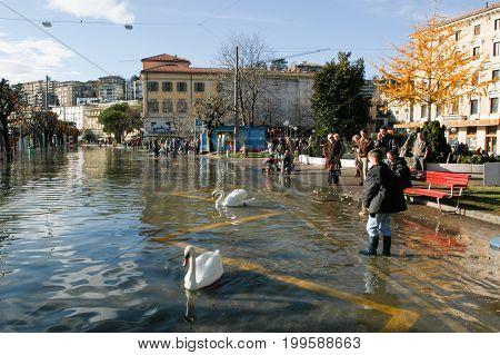 The Inundation Of Lake Lugano
