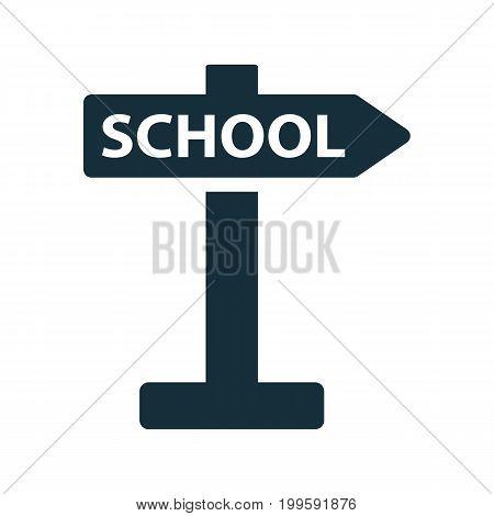 School Direction Signpost Icon