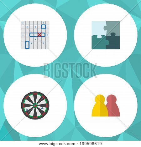 Flat Icon Games Set Of Sea Fight, People, Arrow And Other Vector Objects