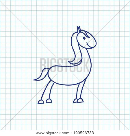 Vector Illustration Of Animal Symbol On Horse Doodle